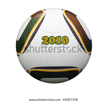 World cup soccer ball 2010 waiting for kick off
