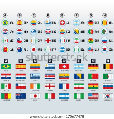 World Cup Soccer National Team Flags.
