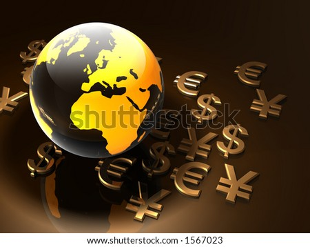 World Currency - stock photo