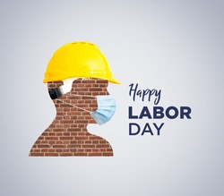 World Day for Safety and Health at Work concept. Happy Labour Day concept. 1st May- International labor day concept. Labor safety and right at Workplace. Safety first for workers.