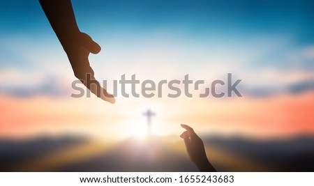 World Day of Remembrance: God's helping hand Foto d'archivio ©