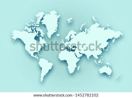 World digital outlined map background #1452782102