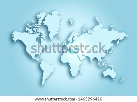 World digital outlined map background #1465296416