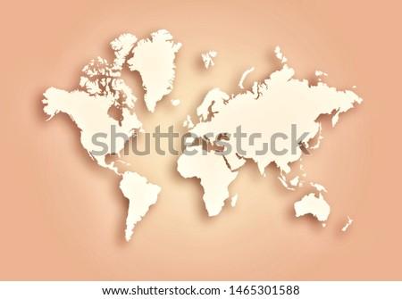 World digital outlined map background #1465301588
