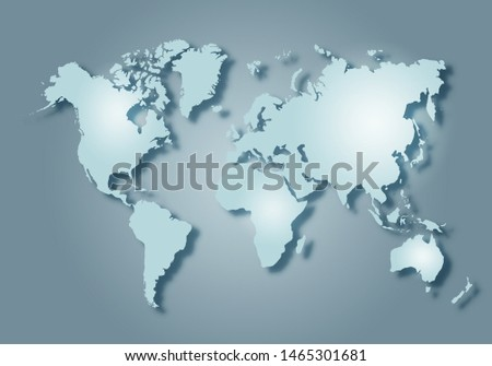 World digital outlined map background #1465301681