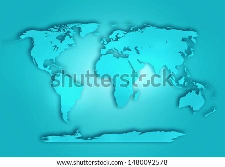 World digital outlined map background #1480092578