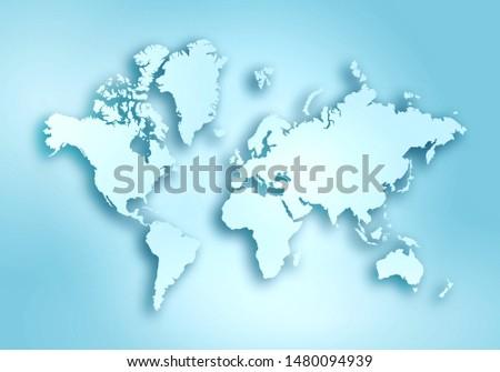 World digital outlined map background #1480094939