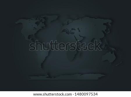 World digital outlined map background #1480097534