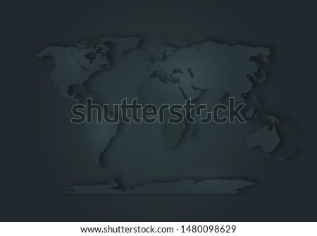 World digital outlined map background #1480098629