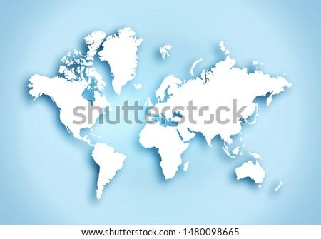 World digital outlined map background #1480098665