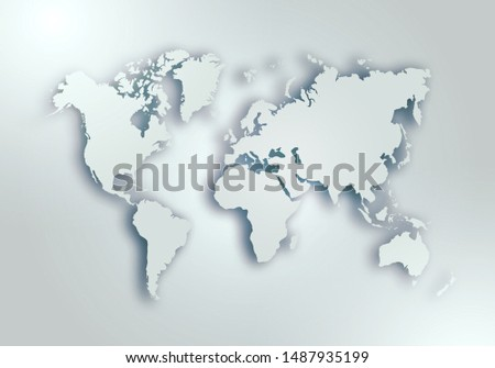 World digital outlined map background #1487935199