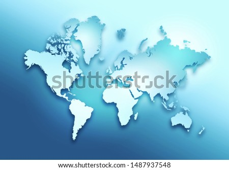 World digital outlined map background #1487937548