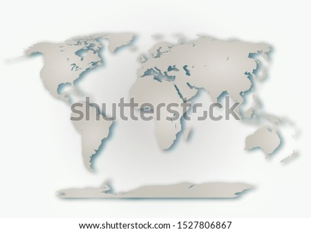 World digital outlined map background #1527806867