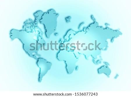 World digital outlined map background #1536077243