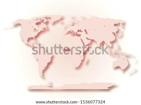 World digital outlined map background #1536077324