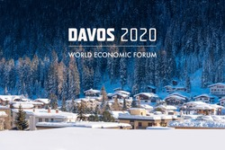 World  Economic Forum 2020 in DAVOS, SWITZERLAND.
