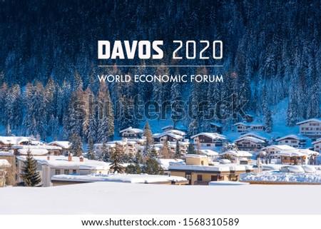World  Economic Forum 2020 in DAVOS, SWITZERLAND. Stock photo ©