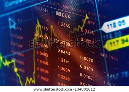 Shutterstock World economics graph. Finance concept.