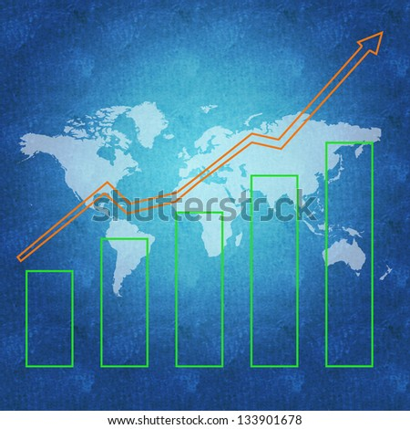 World economy and business success concept