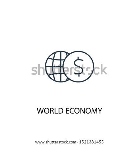 world economy concept line icon. Simple element illustration. world economy concept outline symbol design. Can be used for web and mobile UI/UX