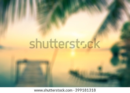 World environment day concept: Abstract blurred beautiful island background