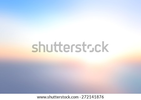 World environment day concept: Abstract blurry sunset sky and clods background