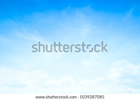 World environment day concept: Abstract white cloud and blue sky in sunny day texture background