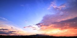 World environment day concept: Amazing dramatic sky sunset background