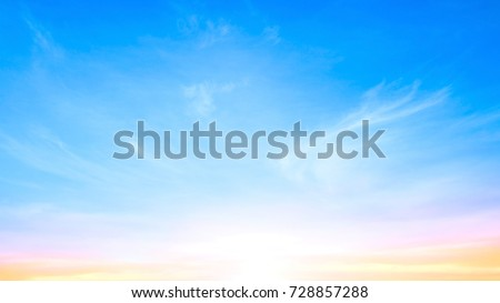 World environment day concept: Early morning sky and white clouds background #728857288