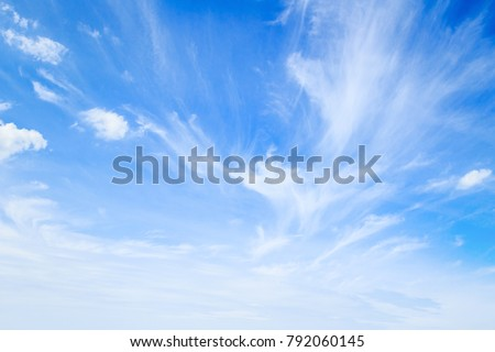 World environment day concept: White cloudy and blue sky background