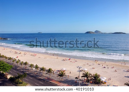 World Famous Ipanema Beach in Rio De Janeiro