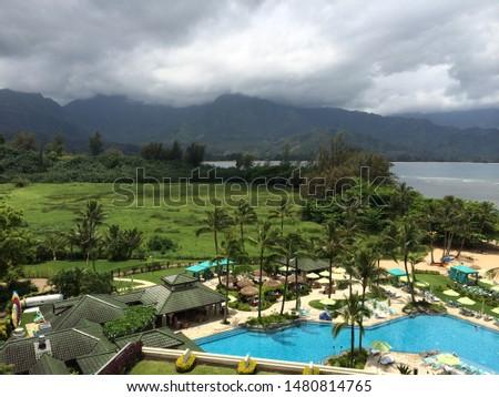 world famous luxury resort's beach  #1480814765