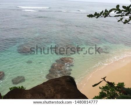 world famous luxury resort's beach  #1480814777