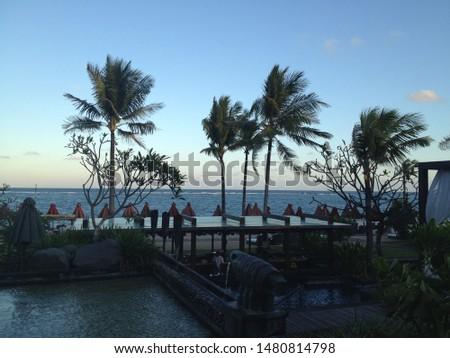 world famous luxury resort's beach  #1480814798