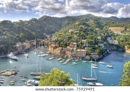 World famous Portofino village, Italy.
