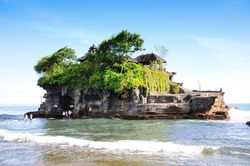 World famous Pura Tanah Lot - or Temple of the Land in the Sea, Bali