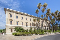 World famous Real Academia de Bellas Artes de San Telmo in Malaga, Andalucia, Spain