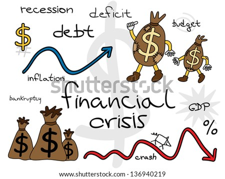 World financial crisis. Illustration concept.