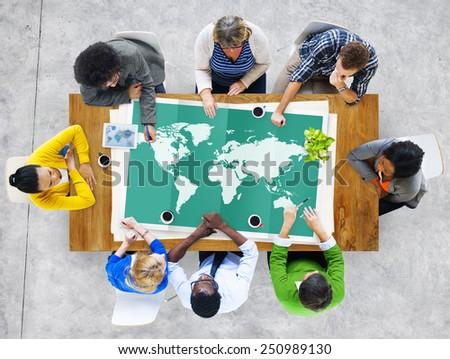 World Global Business Cartography Globalization International Concept