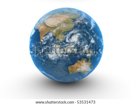 world globe isolated on white - stock photo