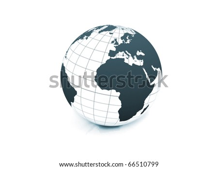 World globe on white background illustration