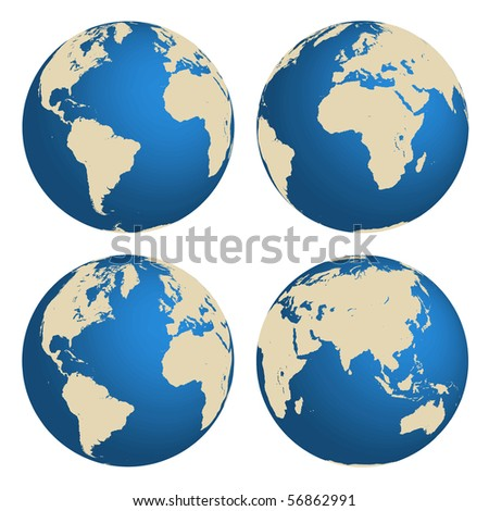 World globes vector concept