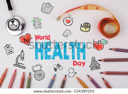 World health day concept. Healty lifestyle background