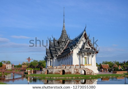 World heritage Old wat in Thailand remains (Royal palace)