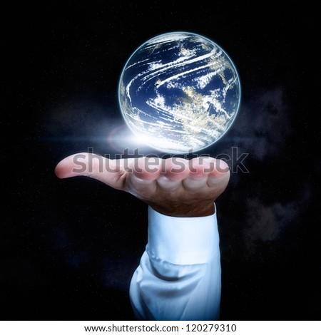 World in your hand concept