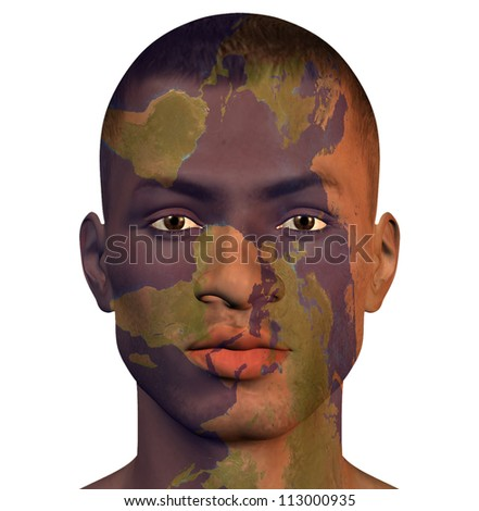 World Man - stock photo
