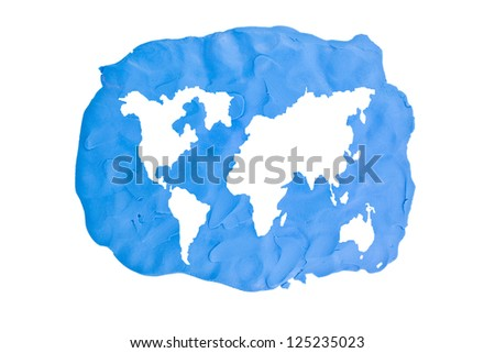 World map abstract handmade