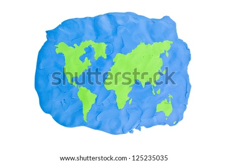 World map abstract handmade