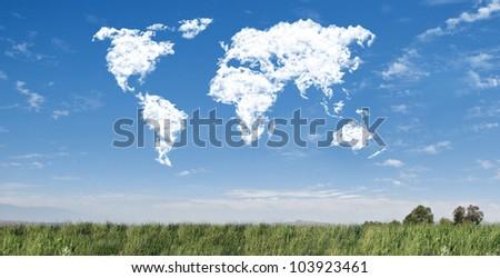 World map cloudscape