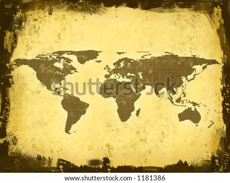 world map continents. stock photo : World Map,